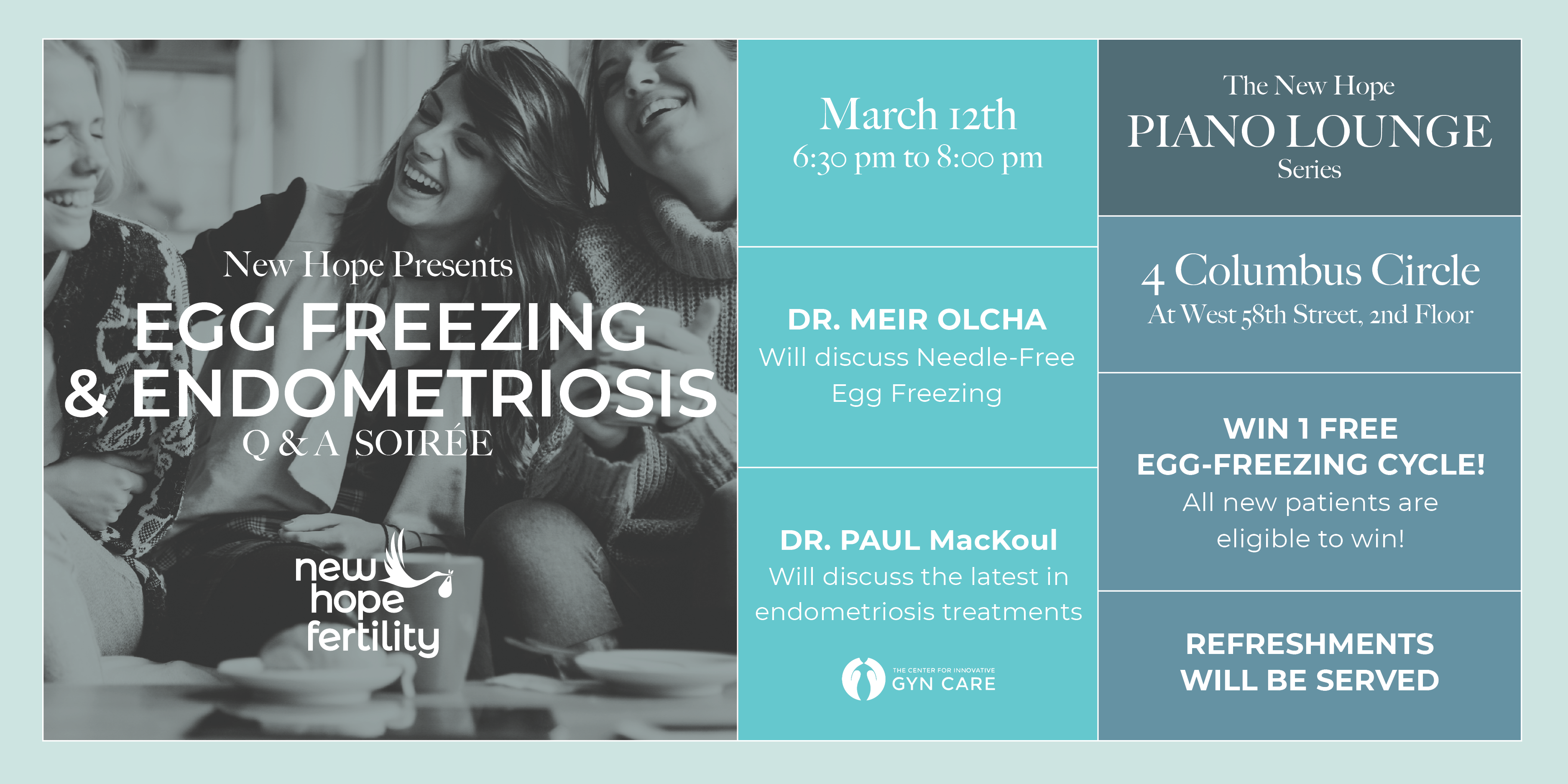 March 12 Endometriosis Egg Freezing Event