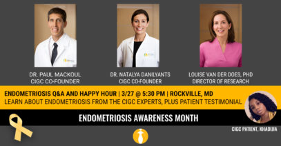 CANCELED: ENDOMETRIOSIS Q&A AND HAPPY HOUR ON MARCH 27