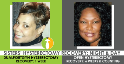 Sisters' Recovery from Different Hysterectomy Procedures Were Night & Day