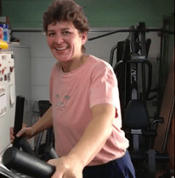 brenda on elliptical stay active